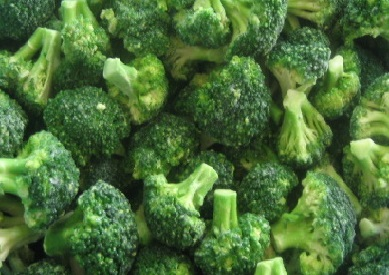 Frozen broccoli knh