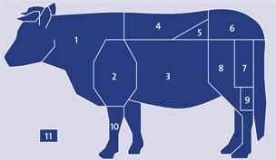 Wholesale frozen Beef meat cuts knh